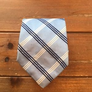 Tommy Hilfiger Silk Tie Navy Plaid